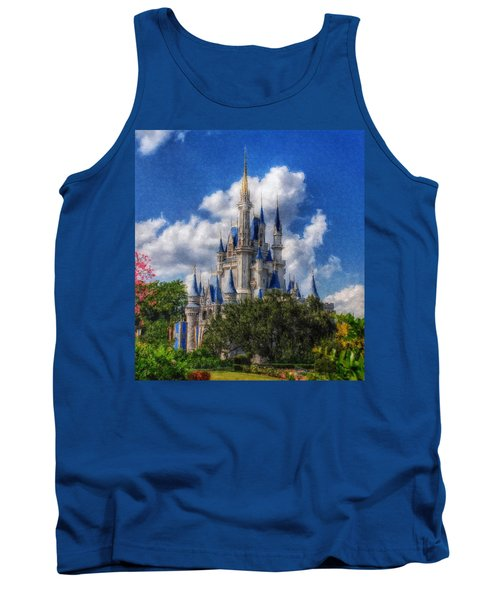 Cinderella Castle Summer Day Tank Top by Sandy MacGowan