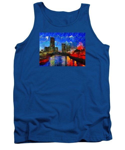 City Living - Tokyo - Skyline Tank Top by Sir Josef - Social Critic -  Maha Art