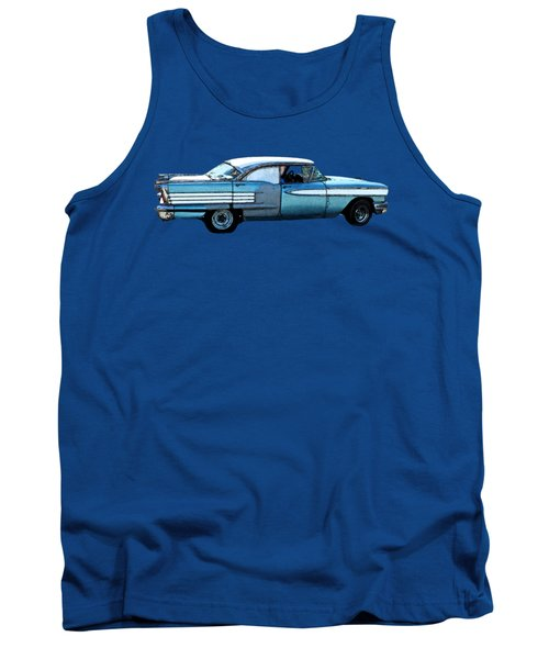 Classic Blue Motor Art Tank Top