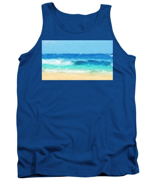 Clear Blue Waves Tank Top by Anthony Fishburne