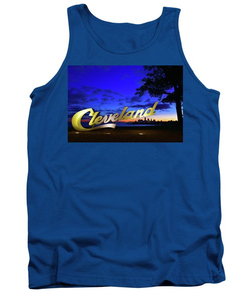Cleveland Sign Sunrise Tank Top