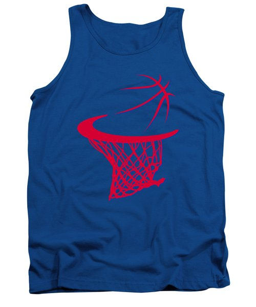 Clippers Basketball Hoop Tank Top by Joe Hamilton