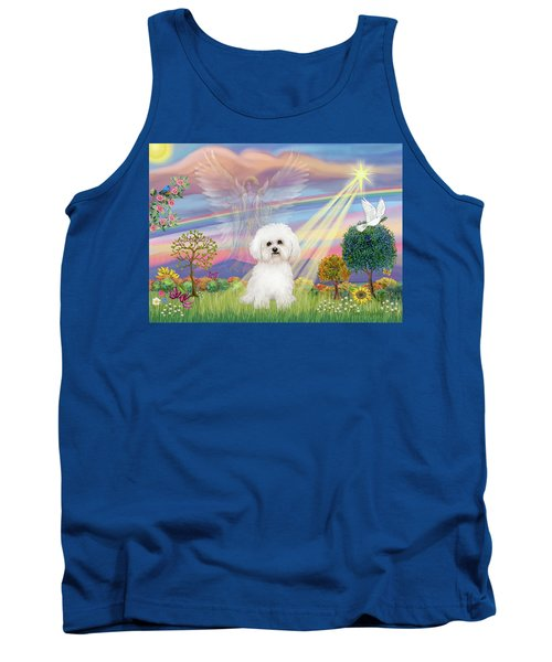 Cloud Angel And Bichon Frise Tank Top