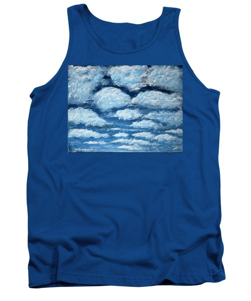 Tank Top featuring the painting Clouds by Antonio Romero