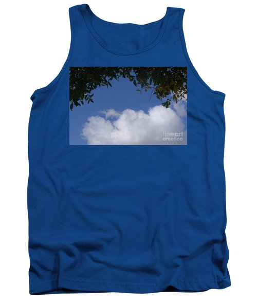 Clouds Framed By Tree Tank Top