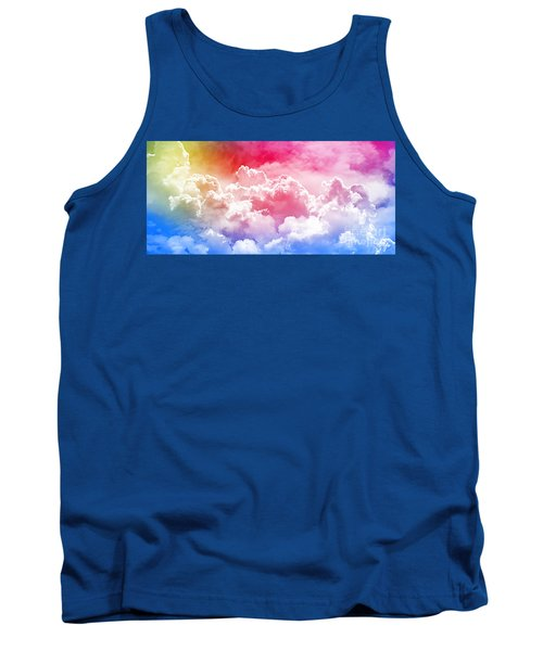 Tank Top featuring the photograph Clouds Rainbow - Nuvole Arcobaleno by Zedi