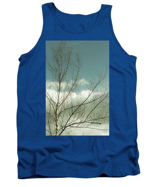 Cloudy Blue Sky Through Tree Top No 1 Tank Top by Ben and Raisa Gertsberg