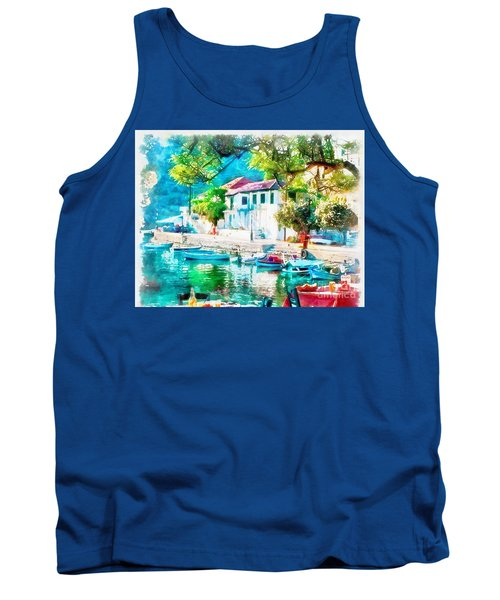 Coastal Cafe Greece Tank Top