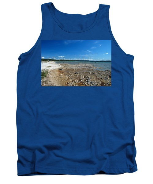 Tank Top featuring the photograph Coastline Of Lake Michigan  Near Petoskey State Park - Little Traverse Bay by Janice Adomeit