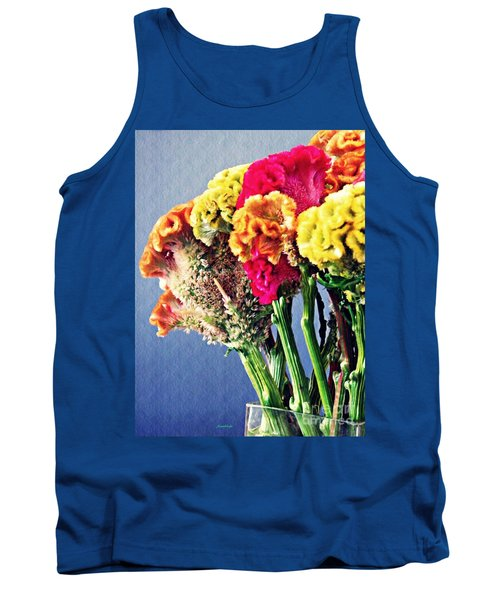 Tank Top featuring the photograph Cockscomb Bouquet 2 by Sarah Loft