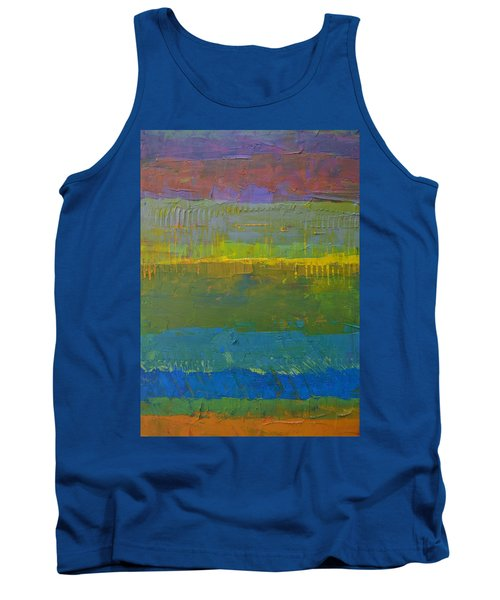Color Collage Five Tank Top by Michelle Calkins