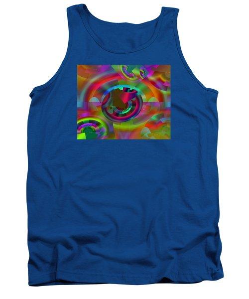 Tank Top featuring the digital art Color Dome by Lynda Lehmann