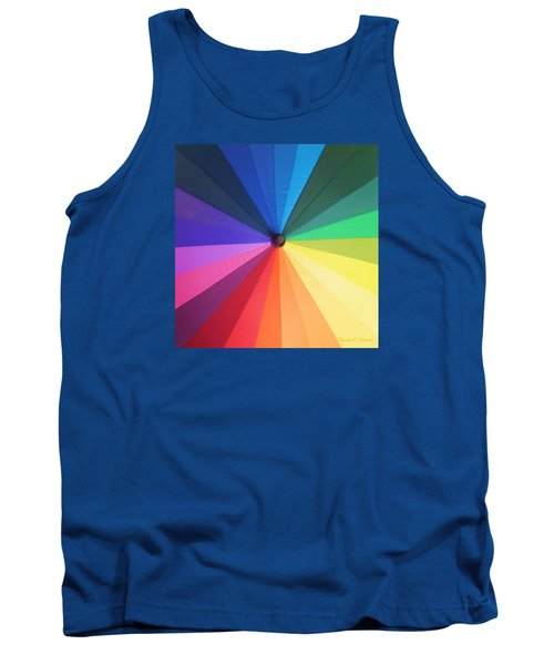 Color Wheel Tank Top by Denise Fulmer