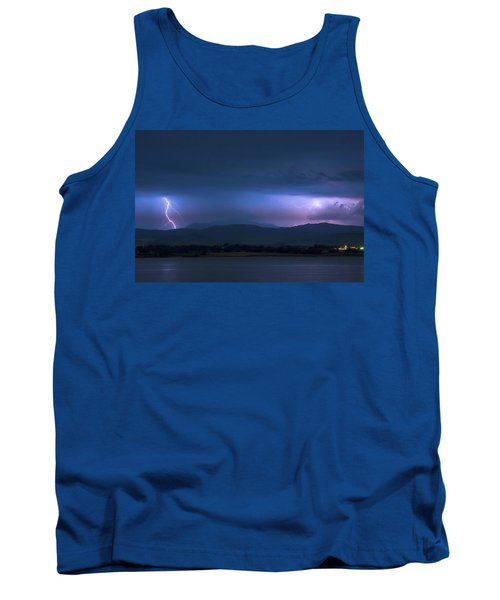 Tank Top featuring the photograph Colorado Rocky Mountain Foothills Storm by James BO Insogna