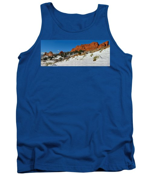 Tank Top featuring the photograph Colorado Winter Red Rock Garden by Adam Jewell