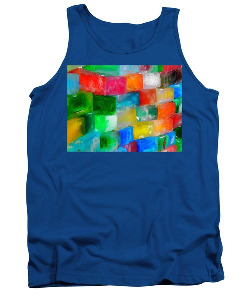 Colored Ice Bricks Tank Top by Juergen Weiss