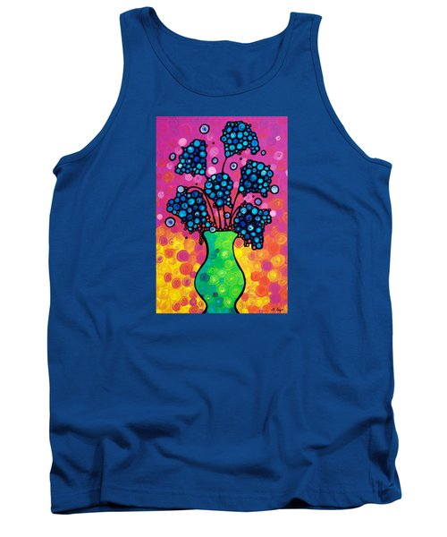 Colorful Flower Bouquet By Sharon Cummings Tank Top by Sharon Cummings