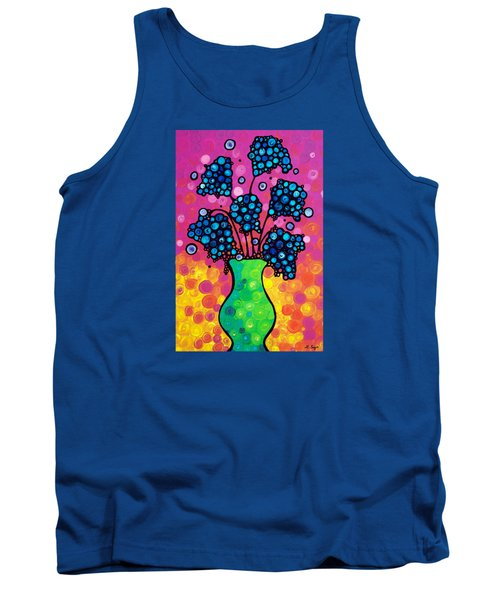 Colorful Flower Bouquet By Sharon Cummings Tank Top