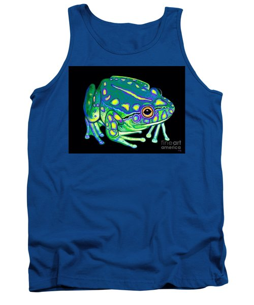 Tank Top featuring the painting Colorful Froggy 2 by Nick Gustafson