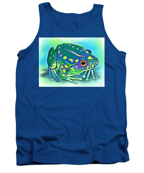 Tank Top featuring the painting Colorful Froggy by Nick Gustafson