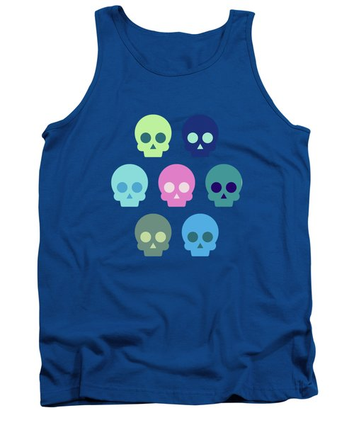 Colorful Skull Cute Pattern Tank Top