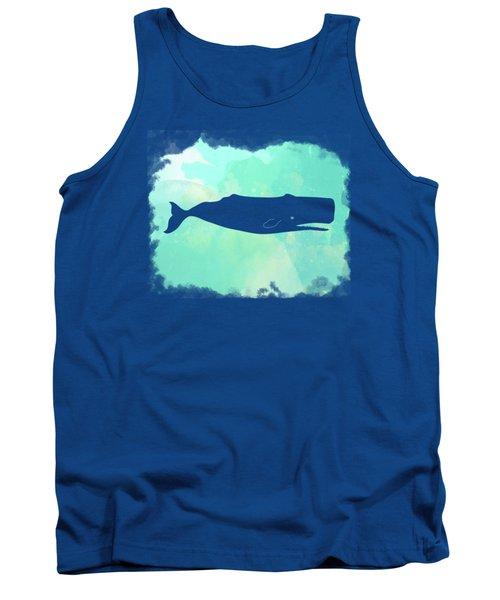 Colorful Watercolor Sperm Whale Sea Life Coastal Art Tank Top