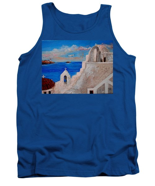 Colors Of Greece Tank Top