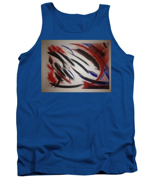 Tank Top featuring the painting Abstract Colors by Sheila Mcdonald