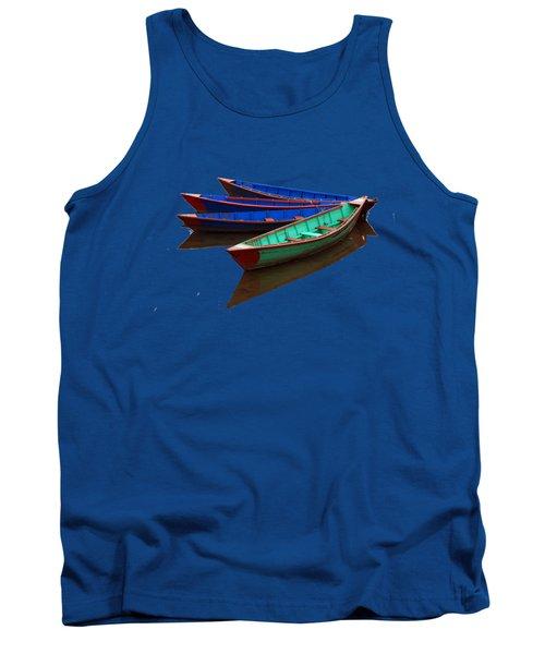 Tank Top featuring the photograph Colourful Fishing Boats  by Aidan Moran