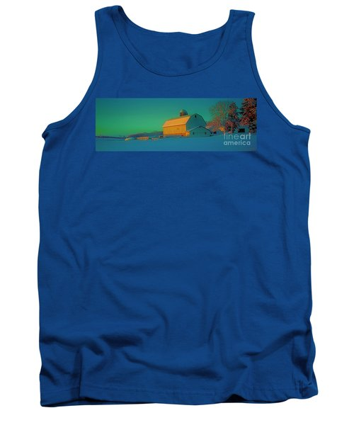 Conley Rd White Barn Tank Top