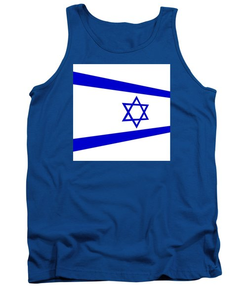 Contemporary Flag Of Israel Tank Top