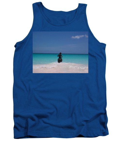 Tank Top featuring the photograph Cool Off Man by Mary-Lee Sanders