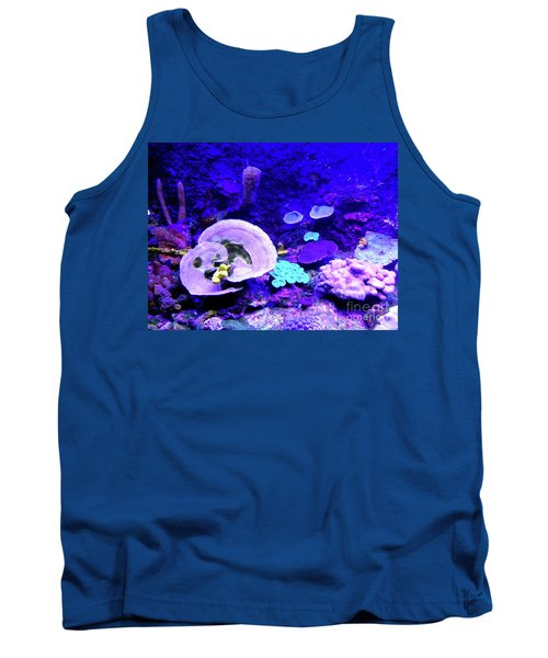 Tank Top featuring the digital art Coral Art by Francesca Mackenney