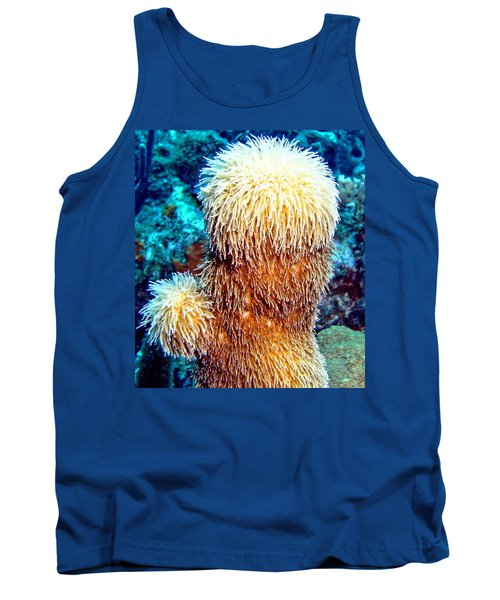 Corky Sea Finger Coral - The Muppet Of The Deep Tank Top by Amy McDaniel