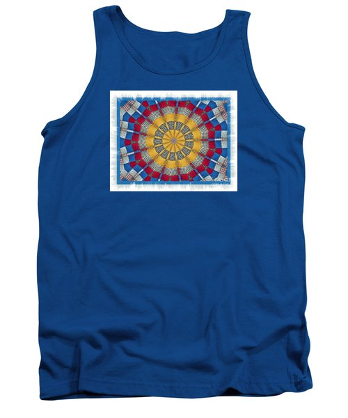 Country Quilt Wheel Tank Top by Shirley Moravec