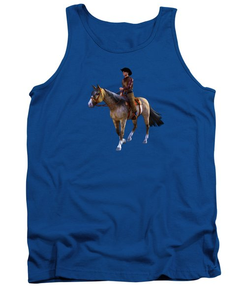 Tank Top featuring the digital art Cowboy Blue by Methune Hively