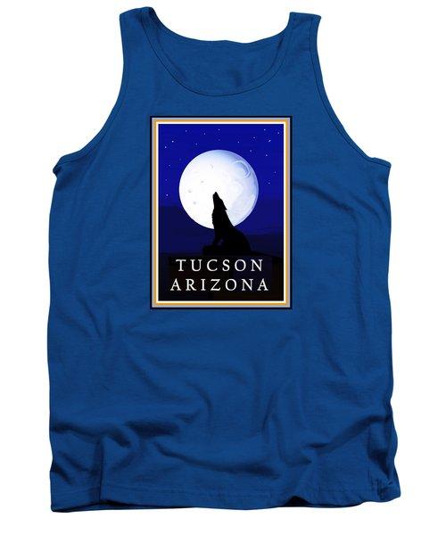 Tank Top featuring the digital art Coyote Moon - Tucson, Arizona by Vagabond Folk Art - Virginia Vivier