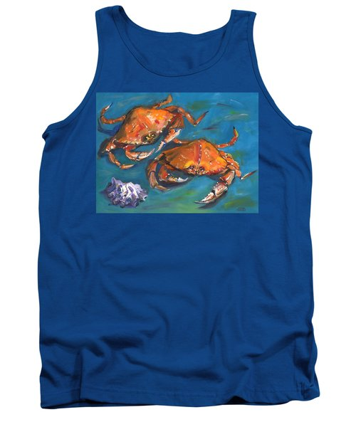 Tank Top featuring the painting Crabs by Susan Thomas