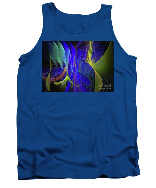 Tank Top featuring the digital art Crescendo by Sipo Liimatainen