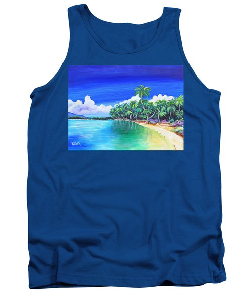 Tank Top featuring the painting Crescent Beach by Patricia Piffath