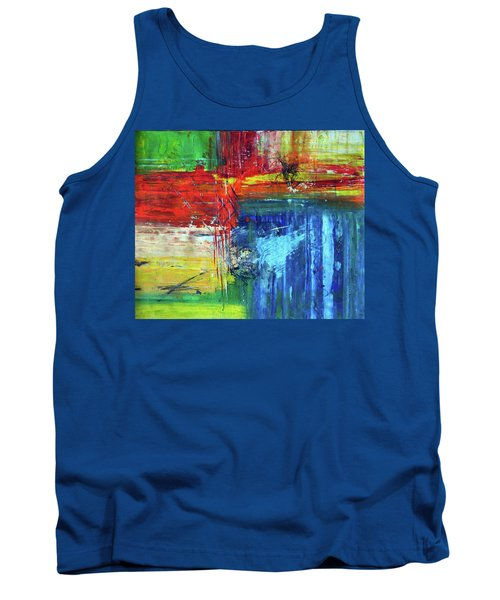Tank Top featuring the painting Crossroads by Everette McMahan jr