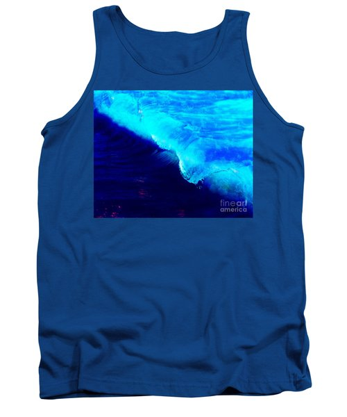 Crystal Blue Wave Painting Tank Top by Catherine Lott