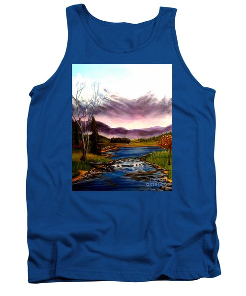 Crystal Lake With Snow Capped Mountains Tank Top
