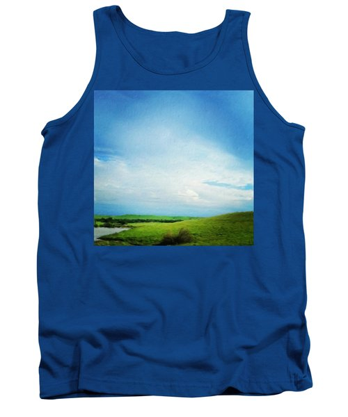 Cultivating Green And Blue Landscape Tank Top