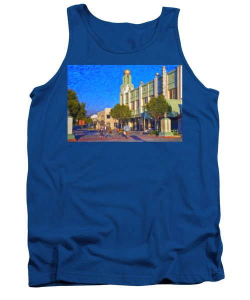 Tank Top featuring the photograph Culver City Plaza Theaters   by David Zanzinger