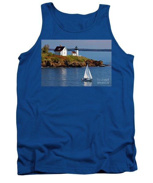 Curtis Island Lighthouse - D002652b Tank Top