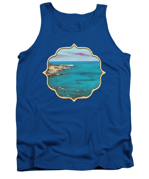 Tank Top featuring the painting Cyprus - Protaras by Anastasiya Malakhova