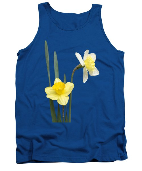 Tank Top featuring the photograph Daffodil Pair - Transparent by Nikolyn McDonald