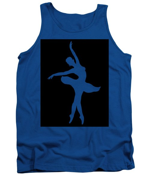Dancing Ballerina White Silhouette Tank Top
