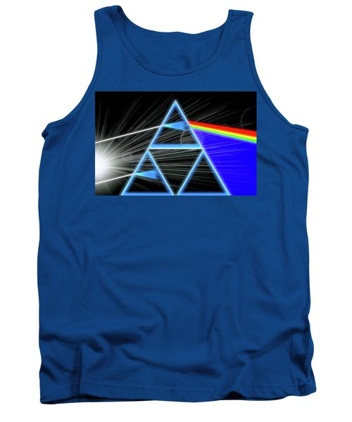 Tank Top featuring the digital art Dark Side Of The Moon by Dan Sproul